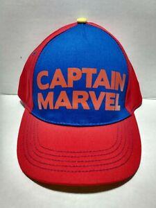 CAPTAIN MARVEL SUPERHERO KIDS YOUTH BASEBALL CAP Yellow Snapback Boys