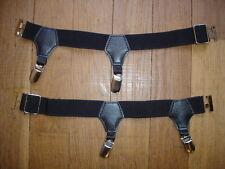 NEW Men's Socks Garters Ref A17 noir double pinces fixes-chaussettes NEOFAN