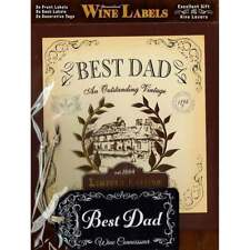 Mulberry Studios Personalised Wine Label Best Dad - NEW - WL002