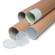 15 tubi postali CARTONE Qualità Extra Forte A3 335MM x 51 mm tappi in plastica