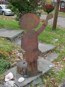 Orig 1920s BUSTER BROWN Figural COUNTRY STORE Sheet Metal Advertising WALL SIGN