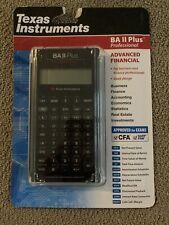 Texas Instruments BA II Plus Professional Advanced Financial