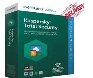 """Kaspersky Total Security 2021 Activation License, 1, 2 Years """"1, 2, 3 Devices"""""""