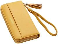 Travelambo Womens Wallet Tassel Bifold Ladies, Access Yellow, Size One Size 0kMr
