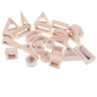 24-piece Wooden Mirror Building Blocks Set Baby Toddler Stacking Blocks Toy