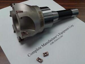 "3"" 90 degree indexable face mill, Sandvik R390 Inserts R8 arbor #506-SDVK-3"