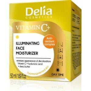 Delia VITAMIN C+ Illuminating Face Cream Moisturiser Hyperpigmented Skin 50 ml