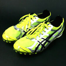 Asics Mens 7.5 Bright Green Silver 'Hyper Md5' Low Top Track Field Cross Country