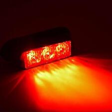 12V/24V 3WHigh Power 3 LED Waterproof Car Truck Emergency Strobe Flash Light RED