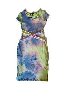 Derek Heart Tie Dye Bodycon Summer Dress Size Medium