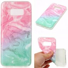 Samsung Galaxy S8 / S8+ Plus - TPU Rubber Gummy Phone Case Marble Stone Patterns