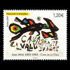"Andorra 2018 - Paintings ""125th Anniv. of the Birth of Joan Miró"" Art - MNH"