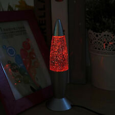 Multi Color Changing Lava Lamp RGB LED Glitter Party Mood Night Light Bedside