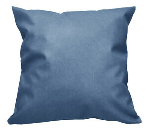 Pc508a Blue Faux Leather Cross Pattern PVC Cushion Cover/Pillow Case*Custom Size