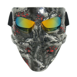 Paintball Mask Airsoft Masks Full Face Tactical Protection Gear Wolft Pattern US