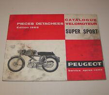 Spare Parts Catalog Peugeot Super Sport, Velomotor - Edition 1965