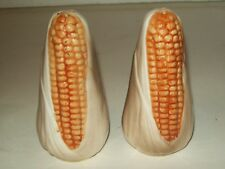 VINTAGE ~ CORN COB ~ SALT & PEPPER SHAKERS ~ SET OF 2 ~ PORCELAIN / CERAMIC