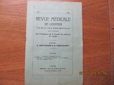 Revue Médicale de Louvain N°1 1932 Classification et traitement des ictères
