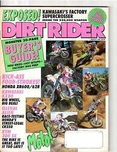 Vintage Magazine Dirt Rider March 1992 Motocross Supercross Jeff Stanton Honda