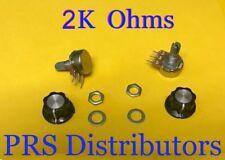 2K Ohm Linear Panel Mount Volume Control Potentiometer with Knob B2K  2 Sets