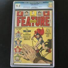 Feature Comics #104 (Quality 1946) 💥 CGC 9.2 Ohio Pedigree 💥 HIGHEST GRADED!