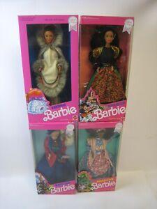 Barbie Dolls of the World English 4973 Jamaican 4647 Eskimo 9844 4963 NRFB PC301