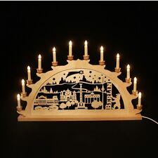 holz-schwibbogen ARCO DI LUCI BERLINO 70 cm Made im Erzgebirge BETULLA Natale