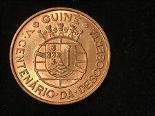 T2: GUINEA BISSAU UNC. 1 Escudo 1946 500th Anniversary of Discovery. Perfect!