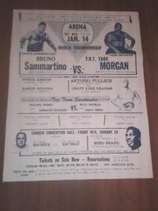 Vintage WWWF 1967 Wrestling Flyer Phila.Arena/Camden NJ: SAMMARTINO:BO BO BRAZIL
