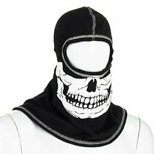 Majestic Pac F20 Black Ultra C6 Hood with White Fire Ink Skull - White Fire Ink