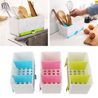 Home Plastic Racks Organizer Caddy Storage Kitchen Sink Utensils Holders Drainer