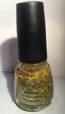 ICING Nail Polish Lacquer Sunlit HOLOGRAPHIC Gold MICRO GLITTER New! 0.65fl Oz