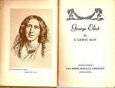 """George Eliot"" by J. Lewis May (1930) Collectible Hardcover First Edition"