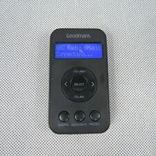 Goodmans Portable DAB & FM Digital Radio 346806 Rechargeable Battery Black LCD