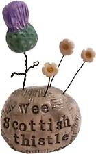 More details for mini sculpture - wee heelan thistle by deborah cameron