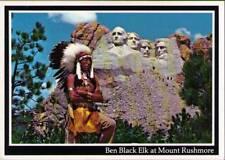 (wo8) Mount Rushmore SD: Ben Black Elk at Mount Rushmore