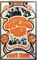 Grateful Dead & Jefferson Airplane In Toronto Rare Concert Promo Poster 21 x 34