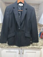 Le Suit Women's Size Petite 10 Blazer Gray One Button