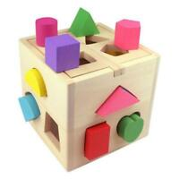 Wooden Shape Sorter Sorting Puzzle Educational Baby Toddler Colourful Toy Gift H