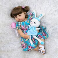 55CM Doll Reborn Toddler Girl Full Body Silicone Vinyl Real Touch Baby Girls Toy
