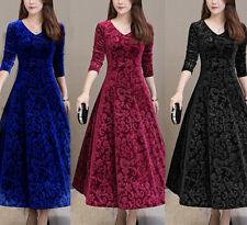 Winter Women Long Sleeve Maxi Dress Velvet Bodycon Dresses Party Dress Plus Size