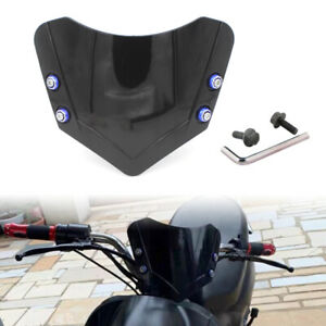 Motorcycle Black Windshield Windscreen Cover Handlebar Front Screen Universal