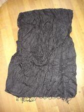 Grand Foulard écharpe noir viscose 100%  très doux  200 x 75 cm