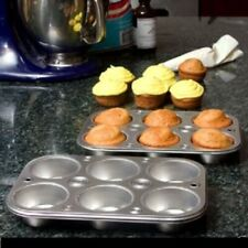6 Cup Steel Muffin Cupcake Cooking Pan Bakeware 1Pc