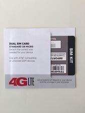 TRACFONE DUAL CUT MICRO MINI SIM CARD AT&T NETWORK