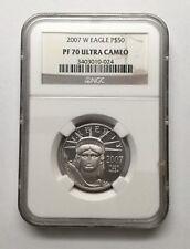 2007 W NGC PF 70 Ultra Cameo Platinum $50 1/2oz Eagle