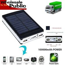 10x 100000mAh Solar Power Bank USB Battery Charger Phone iPhone Wholesale UK