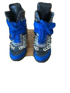 Monika Chiang Artemys blue with spikes Size 37 / 7 Leather Sneakers Ankle Boots