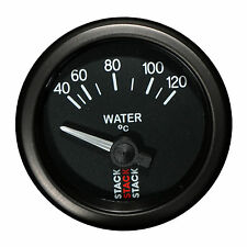 Stack 40-120°C Water Temperature Gauge 52mm Electrical Black Face 3207