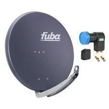 FUBA DAA 850 A + Opticum Twin LNB SAT Spiegel Schüssel anthrazit Antenne 85 cm